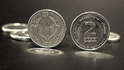 New 2 Sheqel Coin Two Shekel Silver Holy Land Hebrew Judaica Nis Coins Jerusalem