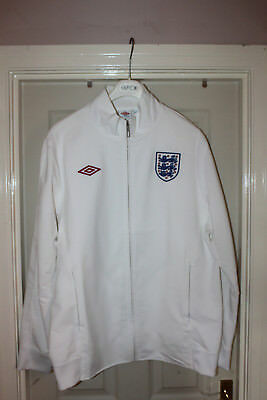 *** England Tracksuit Jacket *** All White