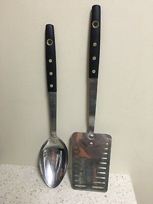 Vintage Maid Of Honor Stainless Slotted Spatula and Serving Measuring Spoon