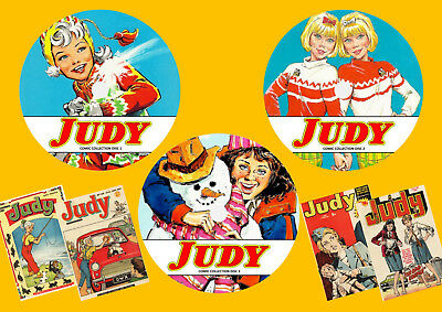 Judy UK Comics & Annuals On 3 DVD Rom's