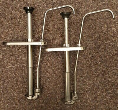 Lot of 2 Server 83330 Stainless Steel Condiment Pumps CP-F