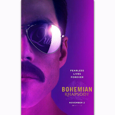 "Bohemian Rhapsody 2018 Musical Concert Movie Queen 24x36"" Poster Art Rami Malek"