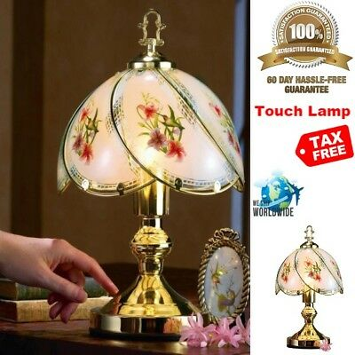 Decorative Lamp Touch Control Activated Sensor For Desk Bedside Hummingbird Gold