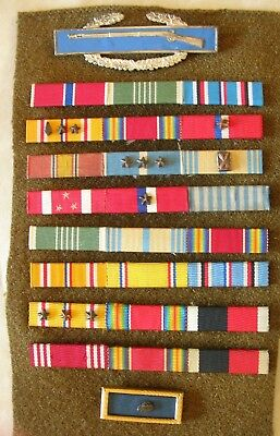 US Army Crimped Ribbon & WWII CIB Collection