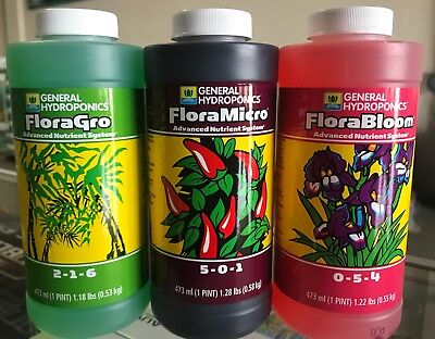 General Hydroponics FloraGro, FloraMicro & FloraBloom Bundle (PINT SIZE)