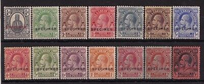 TURKS & CAICOS ISLANDS 1922 KGV set ½d to 3/- SPECIMEN wmk Multi Script CA