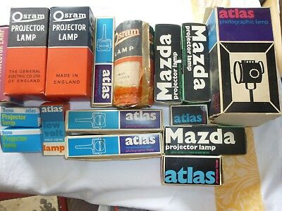 Vintage Projector Lamp Bulbs Collection  Various Makes