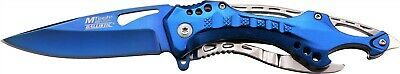 Mtech MT-A705SBL Blue Assisted Straight Folding Pocket Knife Driver Opener