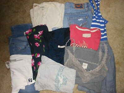 Hollister-Abercrombie & Fitch 10 Pc Junior Lot Size 5,7,med