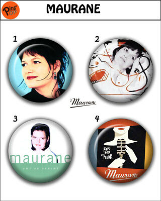 Collection 4 Pin/Button/Badge 'Maurane' Ø32mm/1,25""