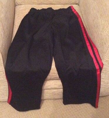 Martial Arts Black With Red Side Stripes Trousers Length 35inches