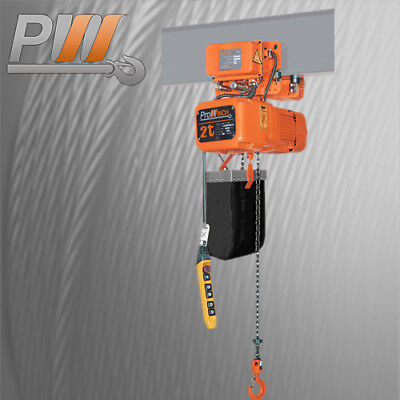 2 Ton 20 Foot Lift Height Heavy Duty Electric Chain Hoist with Motorized Trolley