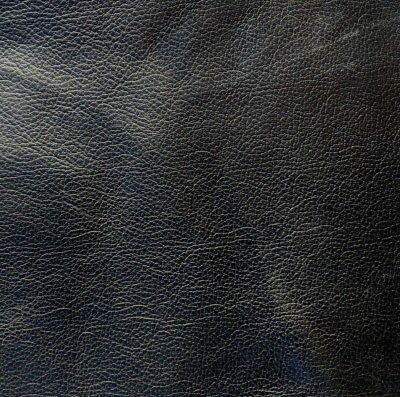 Leather Hide, Skin, Nappa Leather BLACK piece cut to size for repair / craft