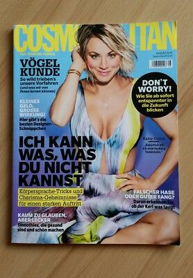 COSMOPOLITAN Magazin, August 2016 08/16; Kaley Cuoco, Smoothies
