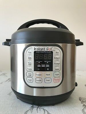 Used Instant Pot IP Duo 60 7-1 Electric Pressure Cooker 6 Litre