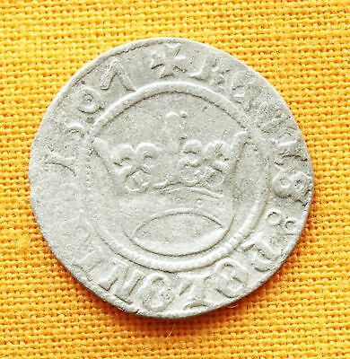 Medieval Polish Coin - Sigismund Silver  Half Grosso 1501. Extra Rare Date!!!