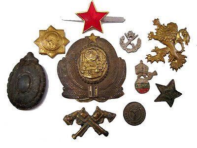 LOT of 10 pcs. BEAUTIFUL VINTAGE MILITARY INSIGNIAE, AS FOUND!!!