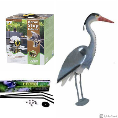 Ultimate Pond Protection Kit, Includes Blue Heron,  Heron Stop & Heron Reflector