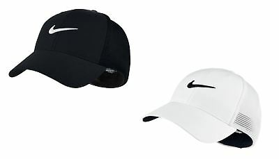 NIKE GOLF DRI Fit New Tour Mesh Fitted Blue   White Hat   Cap - Size ... 64a5aa637ecc