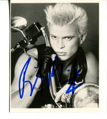 BILLY IDOL autograph HAND SIGNED  6605