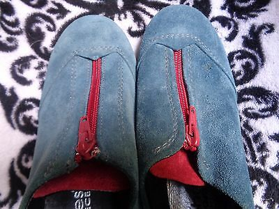 Katia Shoes-Made In Greece-High End Womens Footwear-Rare-Suede-Comfort Size 37-6