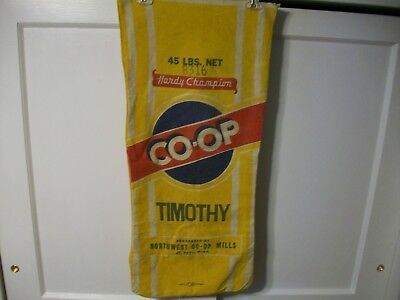 Vintage Cloth Seed Sack Co-Op Hardy Champion Northwest Co-Op Mills