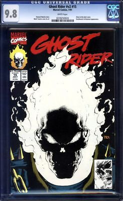 Ghost Rider #15 CGC 9.8 V2 Glow In The Dark!!! 1991