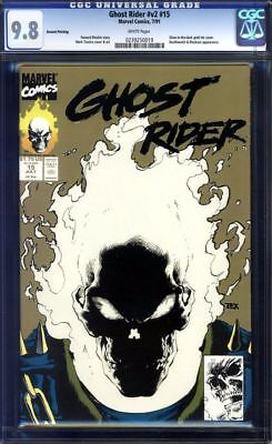 Ghost Rider #15 CGC 9.8 V2 Glow In The Dark!!! Second 2nd Print!!! 1991!!!