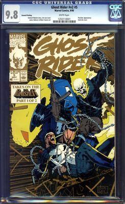 Ghost Rider #5 CGC 9.8 V2 Second 2nd Print!!! Super Rare!!! 1990