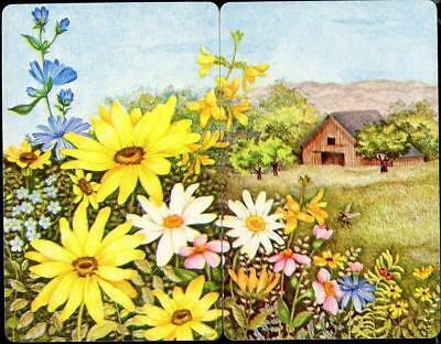 Beautiful Cottage And Daisy Flower Swap/ Playing Cards (Brand New) Connecting