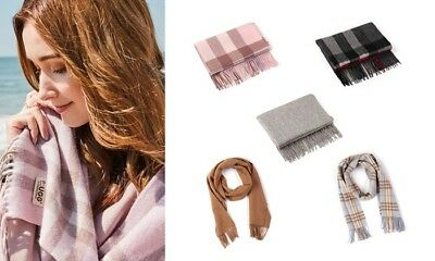 EVER UGG Pure Wool Scarf with Fringe Wrap 168CM x 30CM Soft Fashion Warm Winter