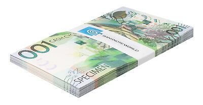 KBA Giori 001 Cash Cycle X 50 PCS,UNC,Specimen,Test Note,Switzerland,Half Bundle
