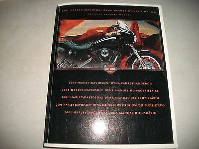 2001 Harley-Davidson Dyna Models International Owners Manual Clean May Be Unused