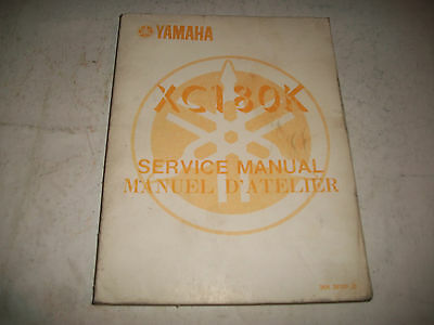 1983 Yamaha Xc180K Motorcycle Shop  Service Manual Clean More Listed