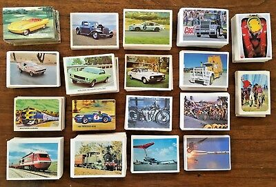 1,068 x  WEETBIX CARDS Most Transportation CARS MOTOR RACING BIKES TRAINS TRUCKS