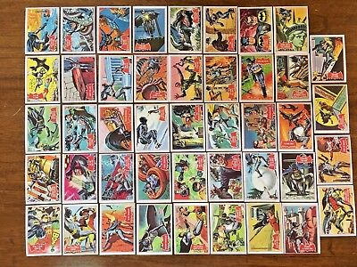 SET OF 44 x 1966 BATMAN CARDS WITH PUZZLE ON THE BACK  VG CONDITION