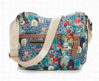 NWT Lily Bloom Kathryn Crossbody Shoulder Bag Who Let The Dogs Out SHP INTL