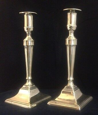 Pair Of English Neoclassical Brass Candlesticks With Pushup Ejectors C.1780