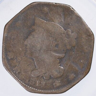 1811 Classic Head Large Cent Damaged clipped edges, scratches