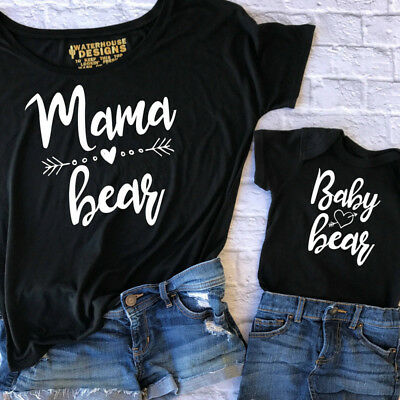 UK Mother and Daughter Parent-Child Love Clothes Girl Family Matching Outfits