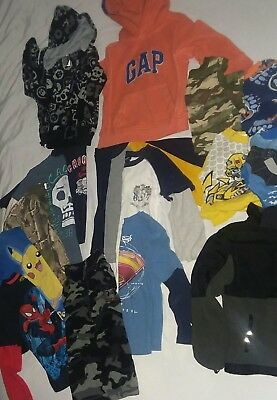 HUGE Lot Of Spring Summer Fall Winter Boys Clothes Size 5t, 5, 5/6 Shirts PJ's