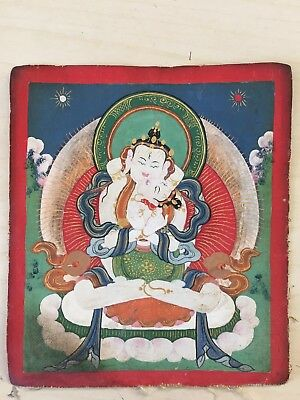 Mongolian Buddhist Old Thangka PAINT 18-19 century