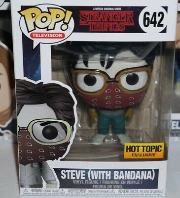 Funko Pop Steve with Bandana #642 Stranger Things Exclusive Brand New