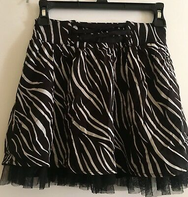 Disney D-Signed Black and White Lace Girls Skirt Size M Medium