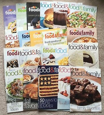 Lot 22 Kraft Food & Family Magazine Recipe Booklets: Summer Salads Grill Holiday