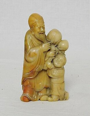 Nice  Carved  Chinese  Shou-Shan  Stone   Figures    M2885