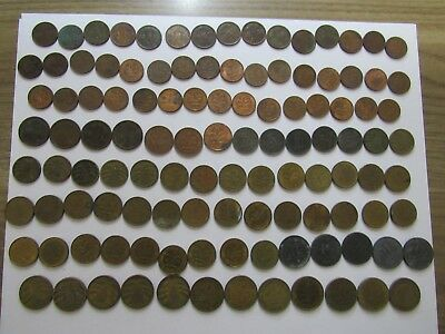 Lot of 149 Different Old Germany Coins - 1917 to 1992 - Circulated