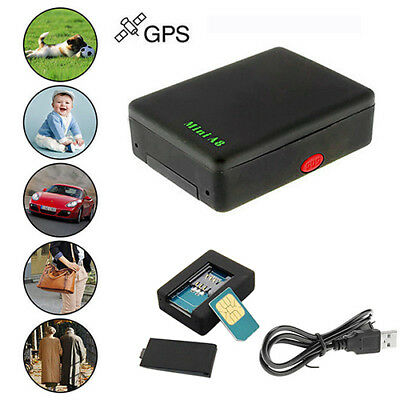 Global Locator Real Mini Time Car Kid A8 GSM/GPRS/GPS Tracking Tracker Cable US