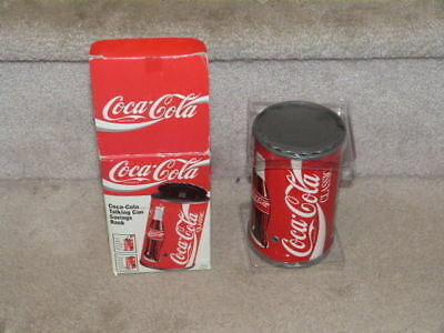 Htf Vintage 1997 Coca Cola Coke Talking Can Savings Bank Brand New Guaranteed