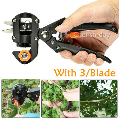 Professional Garden Fruit Tree Pruning Shear Grafting Cutting Tools w/ 2 Blades